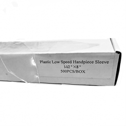 Plastic Low Speed Handpiece Sleeves, 1-1/2'' x 8'' (500pcs/box)