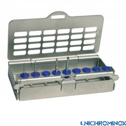 Nichrominox 9-holes ultralight Bur holder