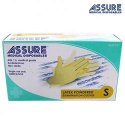 Assure Latex Exam Gloves Powdered (100pcs/Box)