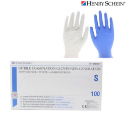 Henry Schein Nitrile Gloves, Powder-free, White,100Pcs/Box  10 Boxes/Carton