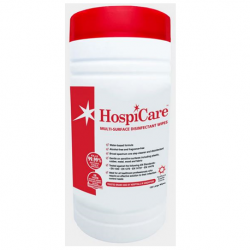 HospiCare Multi-Surface Alcohol Free Disinfectant Wipes, 150sheets/canister