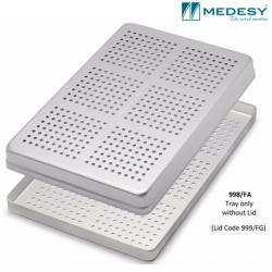 Medesy Tray  Perforated Aluminium Silver #998/F