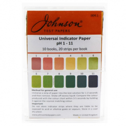 Johnson Universal PH Indicator Test Pa1s, PH 1-11, (20pcs/book, 10books/pack)