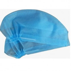 Disposable Doctor's Cap 30gsm,Elastic, Blue, 100pcs/pack