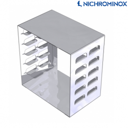 Nichrominox Stainless steel Tray Rack or Dispenser Empty