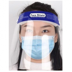 Disposable (Non-sterile) Full Length Face Shield, 200pcs/carton