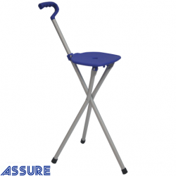 Assure Foldable seat cane