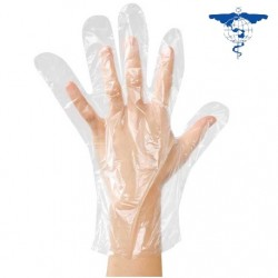 Cosmo Med Plastic Disposable HDPE Gloves (20packs/carton)