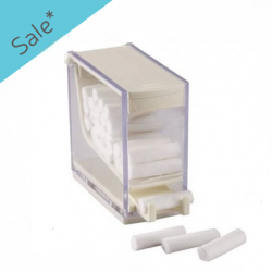 Cotton Rolls Dispenser-White