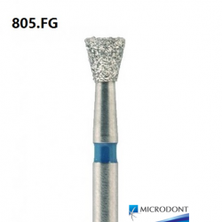Microdont Diamond Inverted Cone Bur, Regular Grit, FG, 10pieces/pack (805.FG)