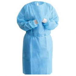 Disposable Isolation Gowns with Knitted cuff ,30gsm,10pcs/pack,10pks/ctn