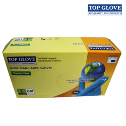 Glove Nitrile Examination Gloves, Powder-Free 100pcs/Box 10 boxes/Carton