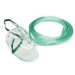 Sterile Oxygen Elongated Mask with 7ft tubing, Adult