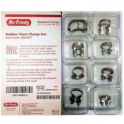 Hu-Friedy Rubber Dam Clamp Set of 8 pcs #RDCSET