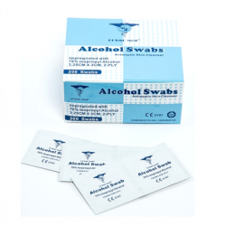 Alcohol swab, 3.25 x 3cm, 2ply (200/box, 10boxes/case)