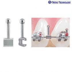 Ortho Technology Split Crimpable Ball Hooks 20 Per Pack Rev-1 #20105