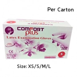 Comfort Plus Latex Examination Gloves Powder-Free (Per Carton)
