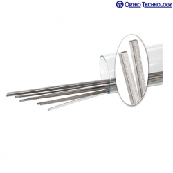 Ortho Technology Flat Titanium Dead-Soft Lingual Retainer Wire 6 length .010 x .028 10/Pack #68293