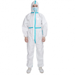 Disposable Protective Micorporus Coverall, 63gsm,White color, Per Pc