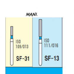 MANI Diamond Bur Straight Flat end (3pcs/pack)