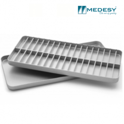 Medesy Tray For Endodontic Aluminium With Lid #1003