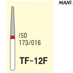MANI Diamond Bur Tapered Fissure,Fine TF-12F (3pcs/pack)