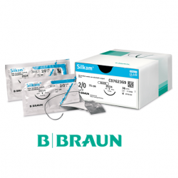 B. Braun Silkam Suture Black 2/0 75cm (DS24) 36pcs/box