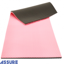 Assure Safe Pink/Grey Memory foam mattress with cover (200X80X4CM)
