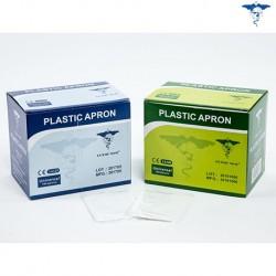 Disposable Plastic Apron Individually Folded, 125cm, (100/Box)