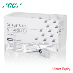 GC Fuji BULK Self Cure Glass Ionomer Cement, 50 Capsules/Box