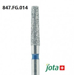 Tapered Fissure Long Diamond Bur, FG, 5pcs/pack (847.FG)