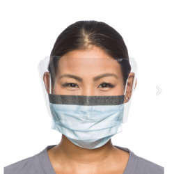 HALYARD Fog-Free Surgical Mask With Face Shield (25 pcs/Box)- Earloop Type