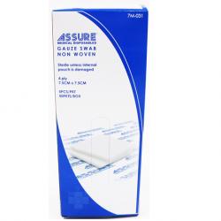 Assure Gauze Swab Non-woven Sterile 7.5 x 7.5 cm x 4-ply