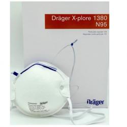 Drager X-Plore 1380 N95 Disposable Respirator (Mask), 20pcs/box