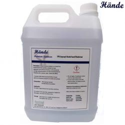 Hande Premium Hand Sanitizer, 70% Isopropyl Alcohol Disinfectant, 5 Liter