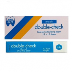 Swedent Double Check Articulating Paper Straight (Blue-Red)