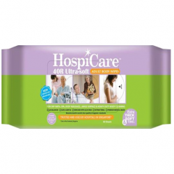 Hospicare Adult Body Wipes Ultra Soft 40R, 40pc/pk, 15pk/ct