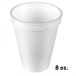 8 oz. Foam Cups White (1000pcs/carton)
