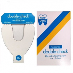 Swedent Double Check Articulating Paper Horse-shoe shaped (Blue-Red)