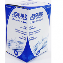 Assure Copolymer Gloves Sterile, 100's/box(Large)