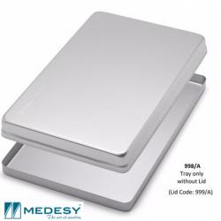 Medesy Tray Aluminium Silver,Non perforated #998