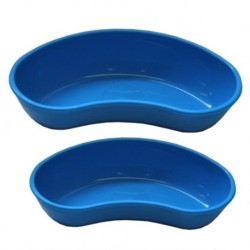 UK made Reusable Holloware Kidney Bowl (Blue Plastic)