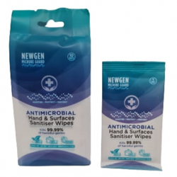 Newgen Microbe Guard Antimicrobial Hand & Surfaces Wipes