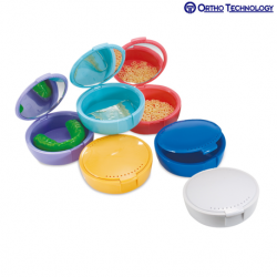 Ortho Technology Retainer Case With Mirror 12/Pack 6 Colors, Rev-1 #45205