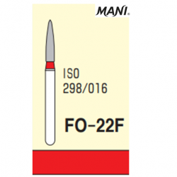 MANI Diamond Bur Flame Shaped,Fine FO-22F (5pcs/pack)
