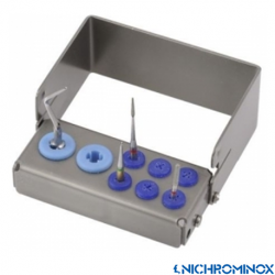 Nichrominox Multi Plug'in Bur holder for 6 burs and 2 Scaling tips