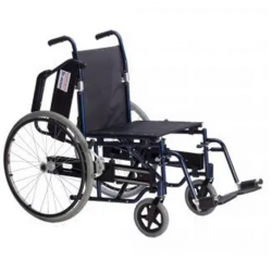 Transfer Wheelchair With Left and Right retractable wheel, 18''